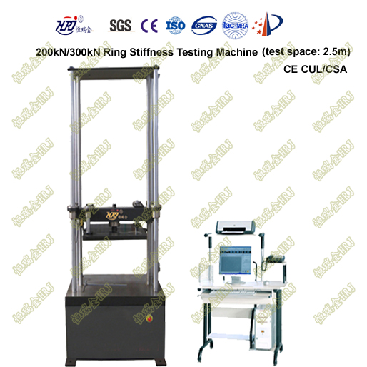 WDW-200R/300R 2.5m Ring Stiffness and Flexibility Testing Machine